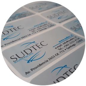 Stickers vinilo metalizado plateado