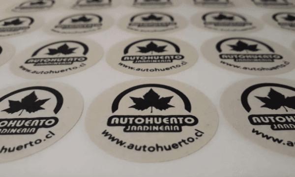 Sticker ecologico autohuerto